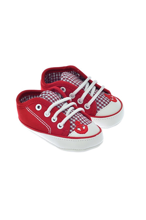 811720 Freesure Kırmızı Erkek Bebek Patik  Bebek Ayakkabı