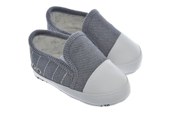 911417 Freesure Gri Erkek Bebek Patik  Bebek Ayakkabı