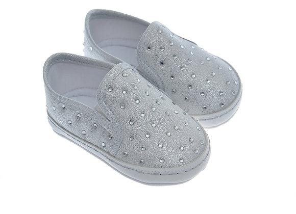 911218 Freesure Gümüş Kız Bebek Patik  Bebek Ayakkabı