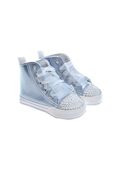 912645 Freesure Mavi Kız Bebek Patik  Bebek Ayakkabı