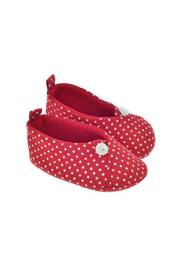 811622 Freesure Kırmızı Kız Bebek Patik  Bebek Ayakkabı