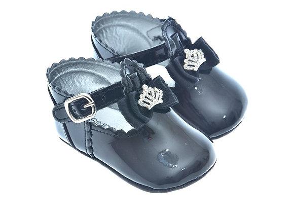 911211 Freesure Siyah Kız Bebek Patik  Bebek Ayakkabı