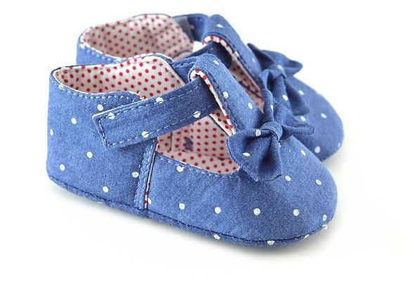 711112 Freesure Koyu Jean Kız Bebek Patik  Bebek Ayakkabı