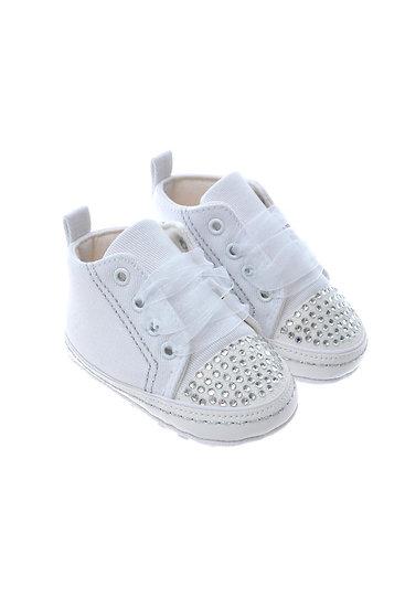91102 Freesure Beyaz Kız Bebek Patik  Bebek Ayakkabı