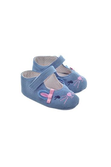 811621 Freesure Açık Kot  Kız Bebek Patik  Bebek Ayakkabı