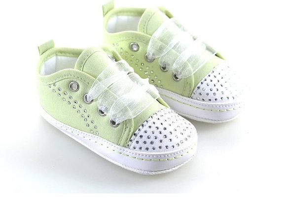 511012 Freesure Yeşil Kız Bebek Patik  Bebek Ayakkabı