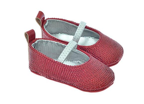 SEQUIN001 Freesure Kırmızı Kız Bebek Patik  Bebek Ayakkabı