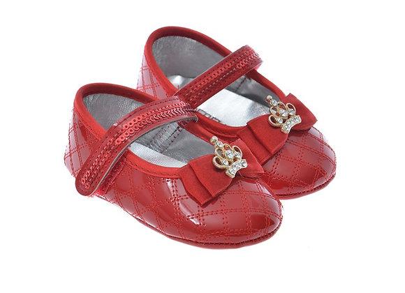 611001 Freesure Kırmızı Kız Bebek Patik  Bebek Ayakkabı