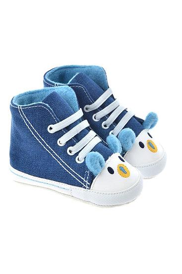 712504 Freesure Mavi Erkek Bebek Patik  Bebek Ayakkabı