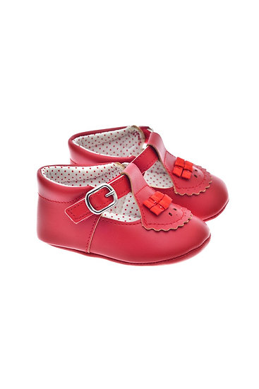201121 Freesure Kırmızı Kız Bebek Patik  Bebek Ayakkabı