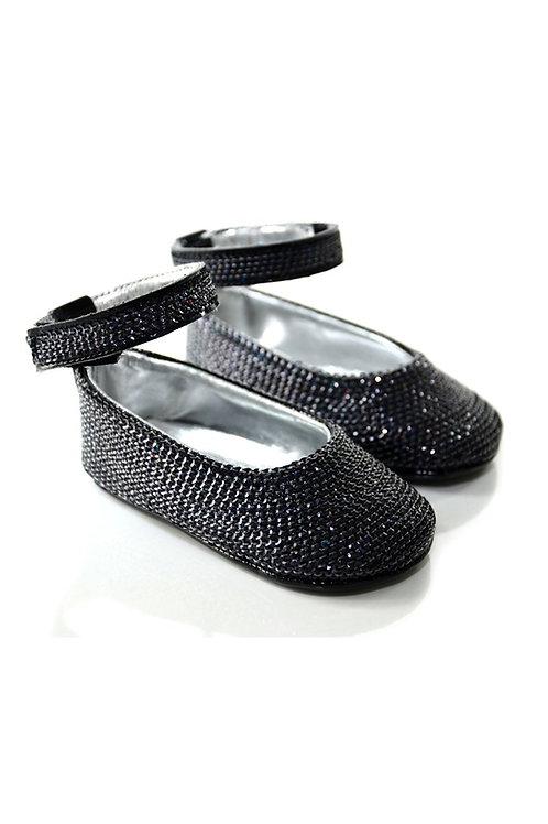 SEQUIN002 Freesure Siyah Kız Bebek Patik  Bebek Ayakkabı