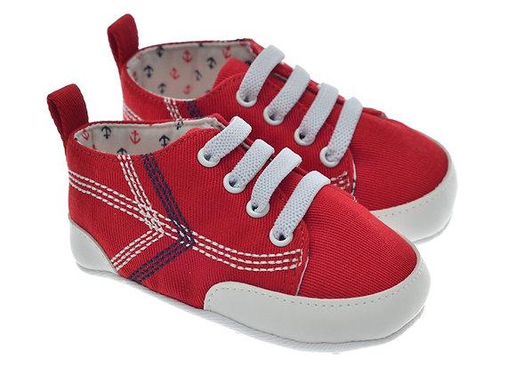 201218 Freesure Kırmızı Erkek Bebek Patik  Bebek Ayakkabı