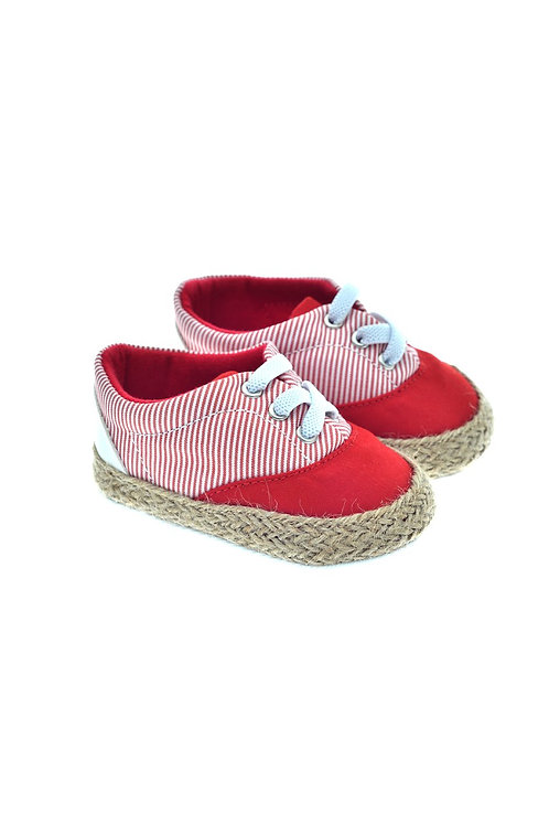 201118 Freesure Kırmızı  Kız Bebek Patik  Bebek Ayakkabı