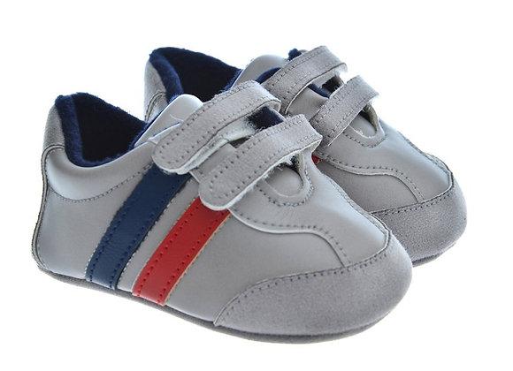 912575Freesure Gri  Erkek Bebek Patik  Bebek Ayakkabı