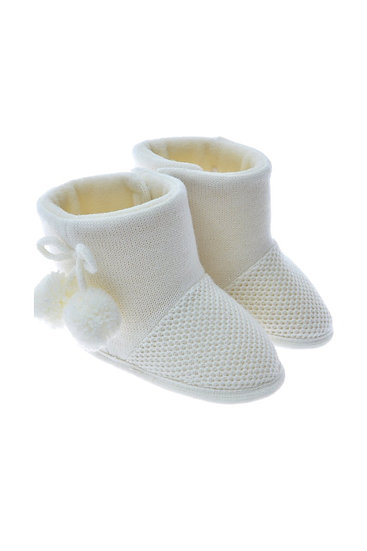 712515 Freesure Ekru Kız Bebek Patik  Bebek Ayakkabı