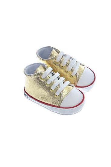 911214 Freesure Altın Kız Bebek Patik  Bebek Ayakkabı