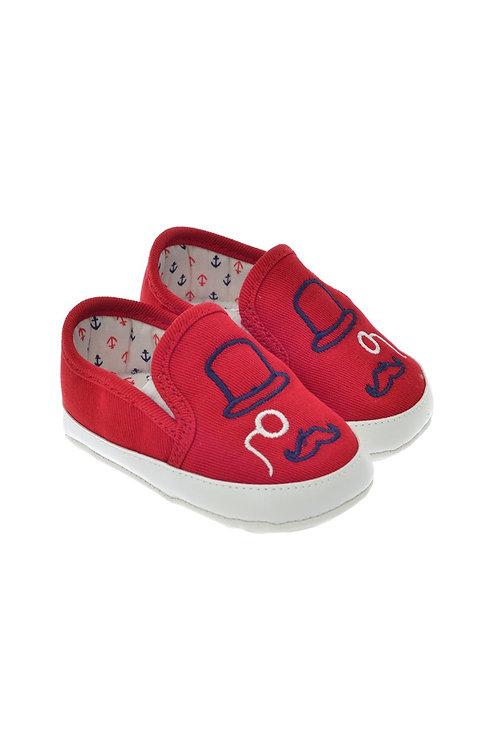 711216 Freesure Kırmızı Erkek Bebek Patik  Bebek Ayakkabı