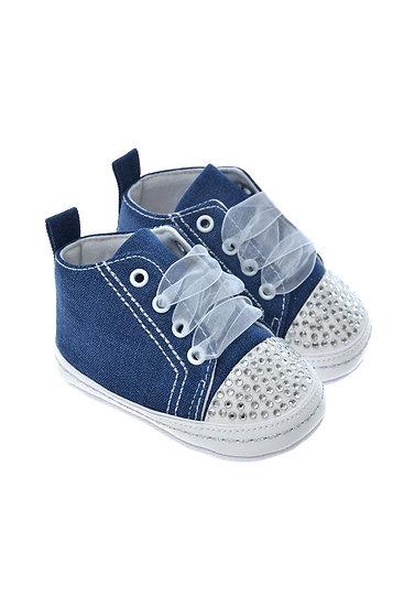 91102 Freesure Jean Kız Bebek Patik  Bebek Ayakkabı