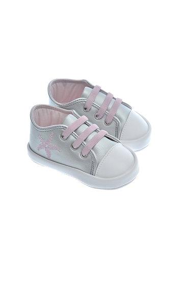 911216 Freesure Gümüş Kız Bebek Patik  Bebek Ayakkabı