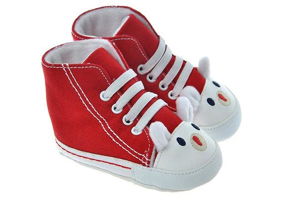 712401 Freesure Kırmızı Kız Bebek Patik  Bebek Ayakkabı