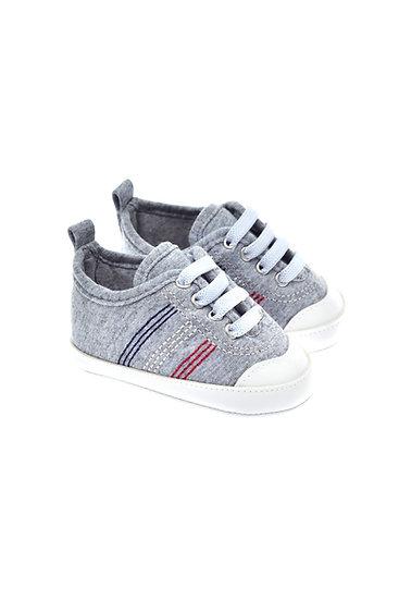 201223 Freesure Gri Erkek Bebek Patik  Bebek Ayakkabı