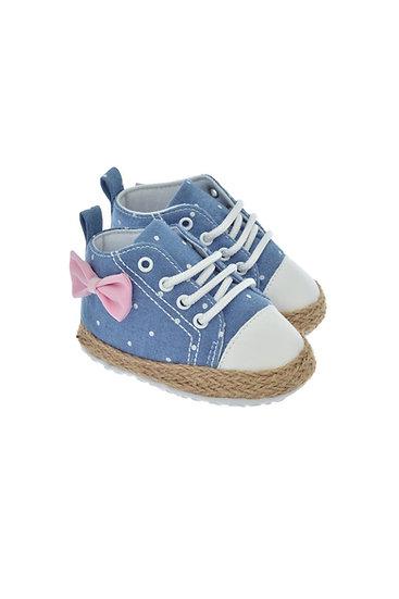 811606 Freesure Açık Jean Kız Bebek Patik  Bebek Ayakkabı