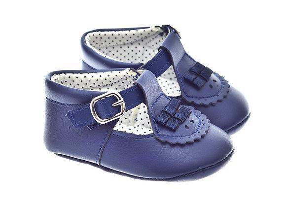 201121 Freesure Lacivert Kız Bebek Patik  Bebek Ayakkabı