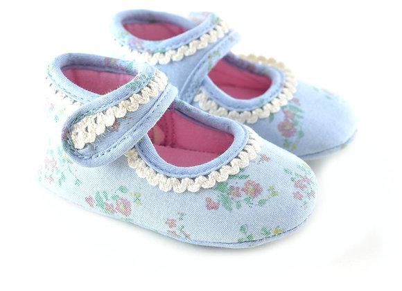 711115 Freesure Açık Kot Kız Bebek Patik  Bebek Ayakkabı
