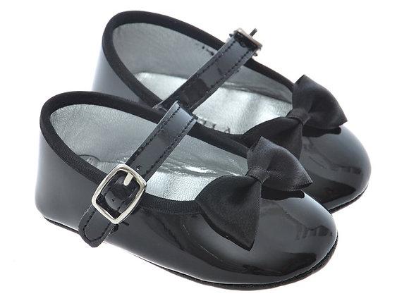 2000 Freesure Siyah Kız Bebek Patik  Bebek Ayakkabı