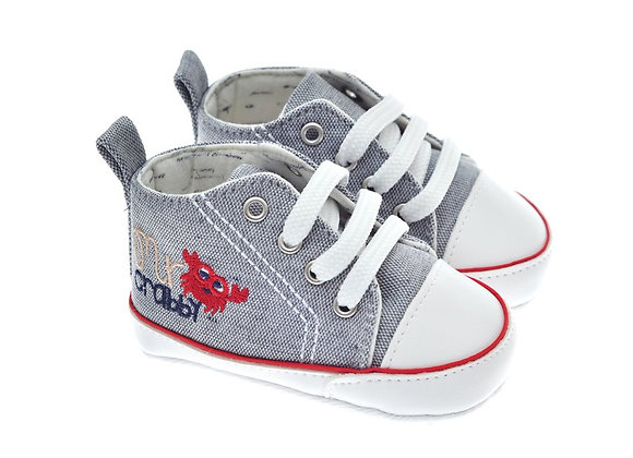 201228 Freesure Gri Erkek Bebek Patik  Bebek Ayakkabı