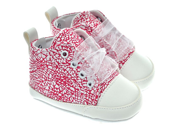 201115 Freesure Kırmızı Kız Bebek Patik  Bebek Ayakkabı