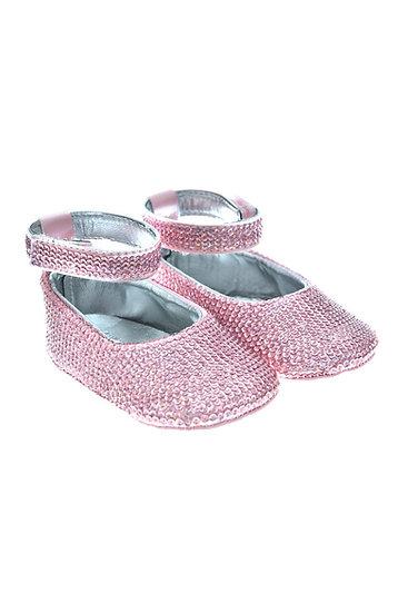 SEQUIN002 Freesure Pembe Kız Bebek Patik  Bebek Ayakkabı