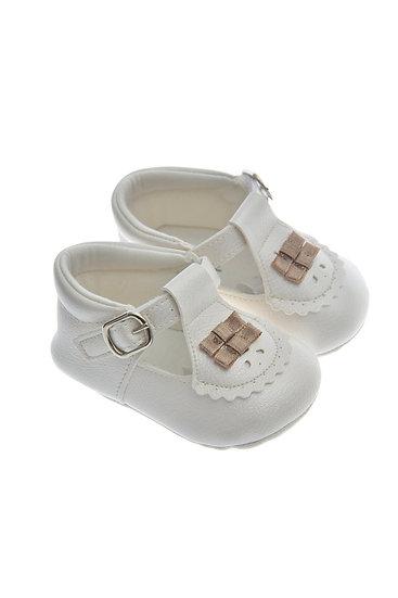 911217 Freesure Ekru Kız Bebek Patik  Bebek Ayakkabı
