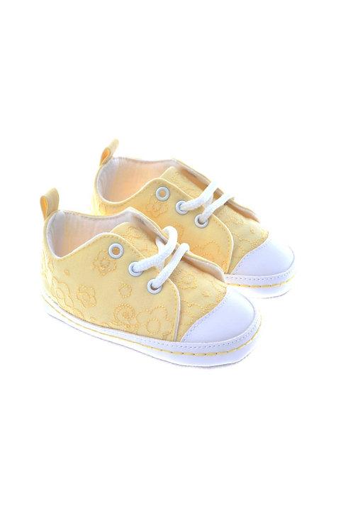 511006 Freesure Sarı Kız Bebek Patik  Bebek Ayakkabı