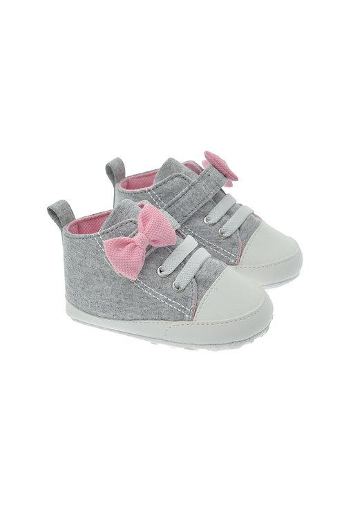211612 Gri Freesure Bebek Kız Patik Bebek Ayakkabı