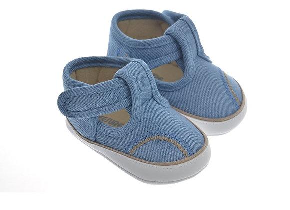 911421 Freesure Açık Kot Erkek Bebek Patik  Bebek Ayakkabı