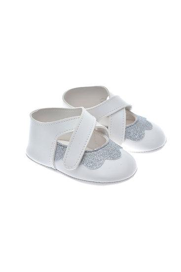 201122 Freesure Gümüş Kız Bebek Patik  Bebek Ayakkabı