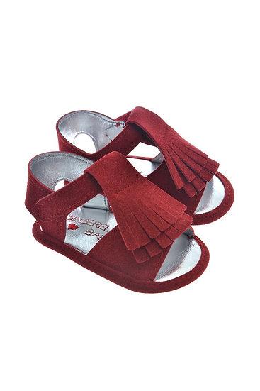 911232 Freesure Kırmızı Kız Bebek Patik  Bebek Ayakkabı