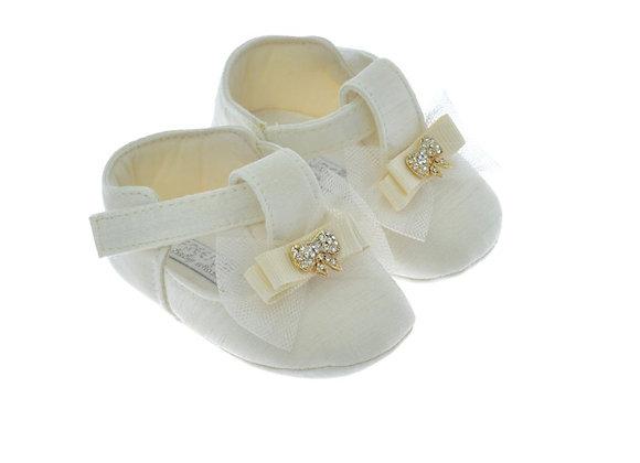 611008 Freesure Ekru Kız Bebek Patik  Bebek Ayakkabı