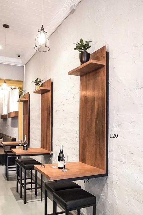 tavolo da parete bar / giardino metallo industrial desing style moderm
