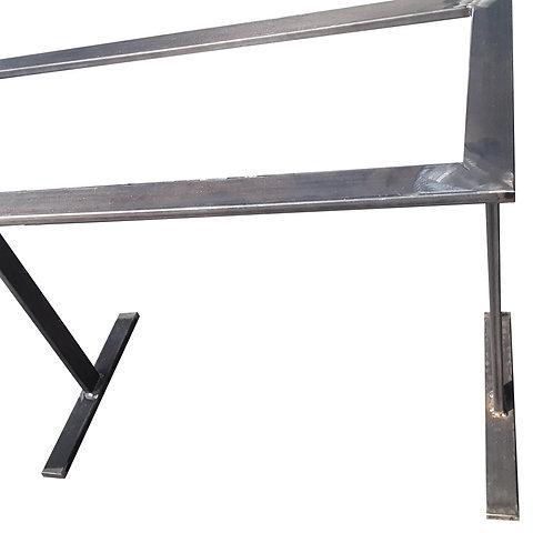 base per tavolo a T Gambe tavolo metallo industrial design marmo/ulivo