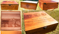 Custom Cherry Engraved Box