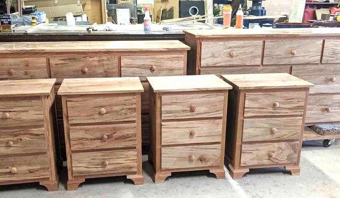Walnut and Ambrosia Maple Dressers