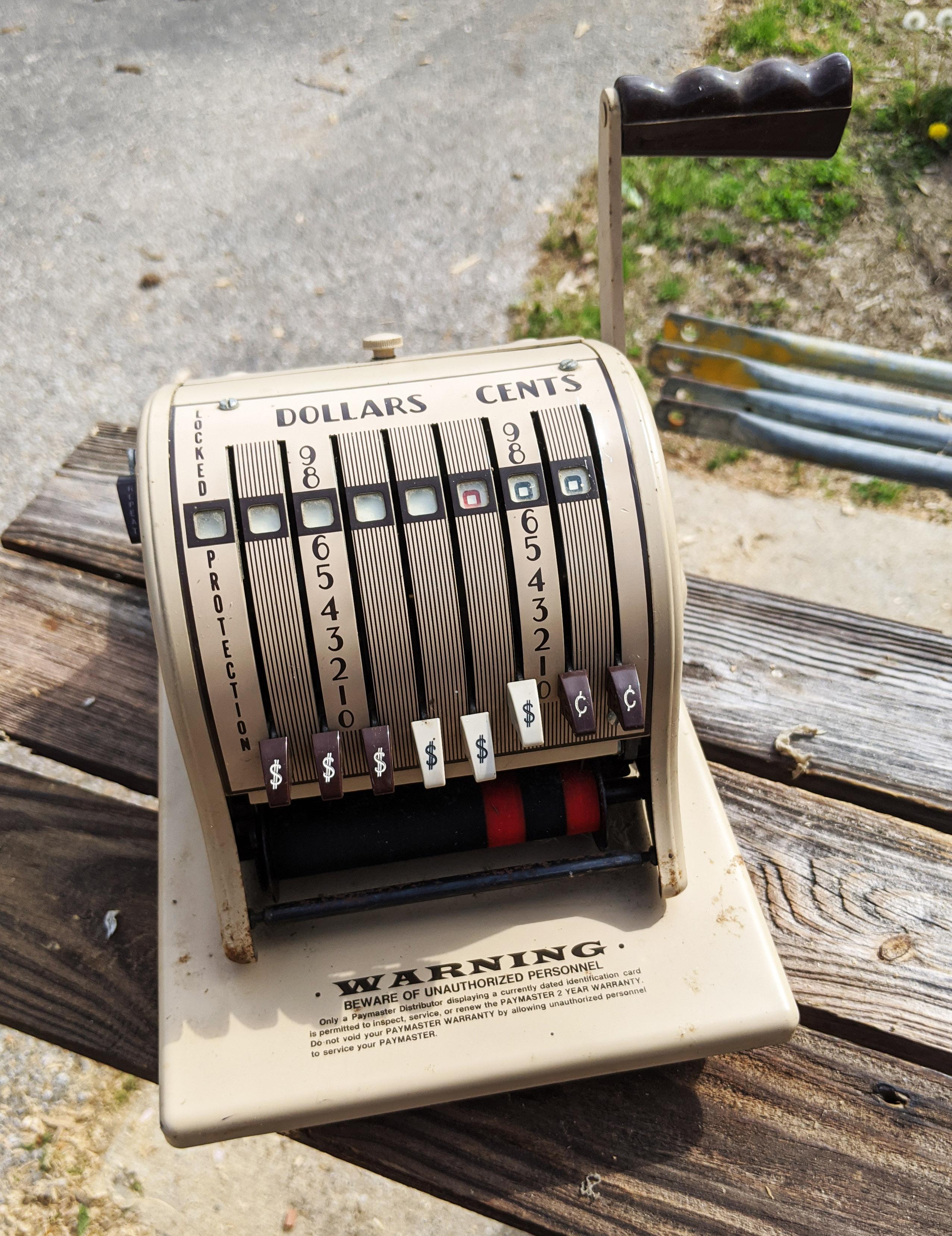Vintage Credit Card Machine
