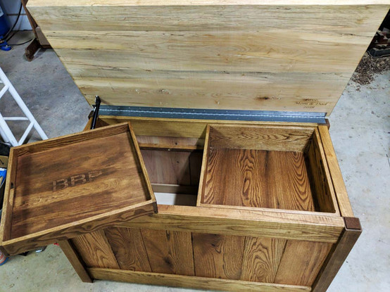 Oak Chest with Maple Lid
