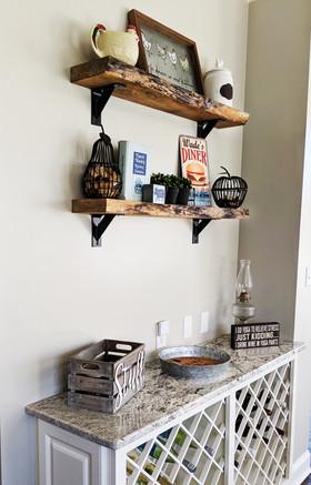 Live-Edge Shelves
