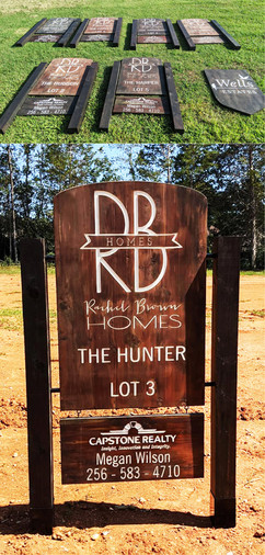 Custom Large Engraved & Painted Cedar Signs