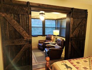 Split Double Z Framed Sliding Barn Doors