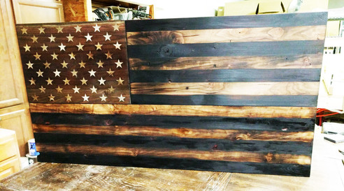 Custom American Flag Cabinet