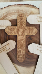 Engraved Story of Christ Cross